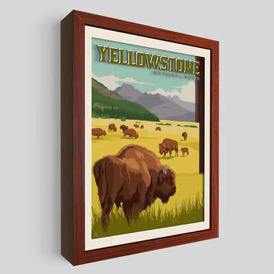 Yellowstone National Park Shadowbox Art