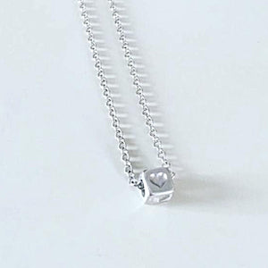 Solid Sterling Silver Love Heart Charm Pendant