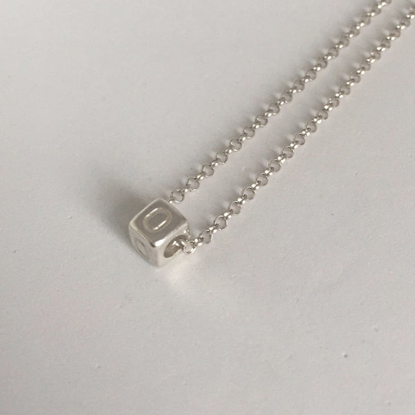 Initial Letter Pendant Alphabet Charm Sterling Silver 925