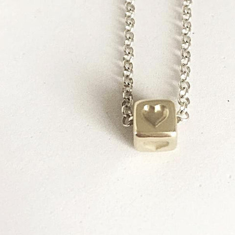 Solid 9ct Gold Heart Charm Pendant