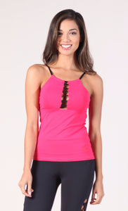 EQUILIBRIUM Pink Long Top Betty Tank