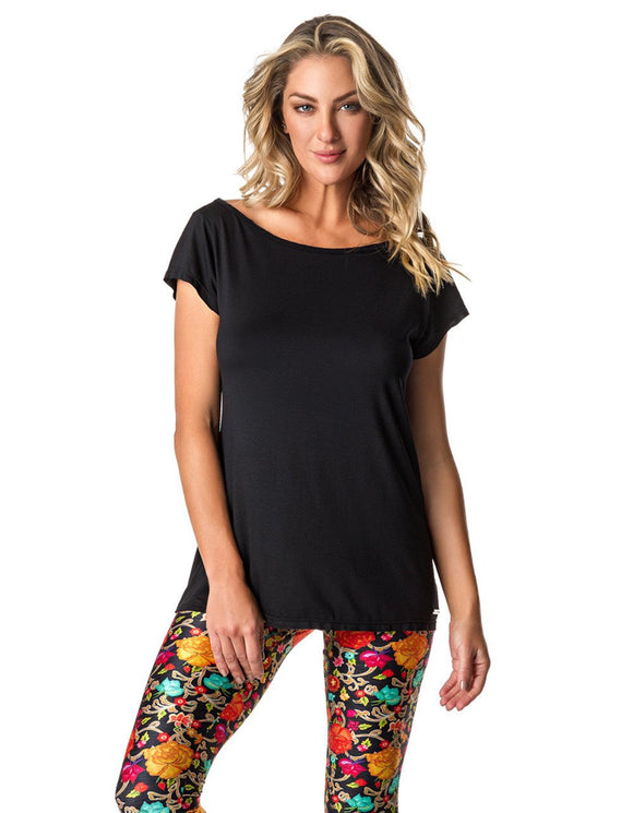 SHORT SLEEVE SHIRT 107 HUMMINGBIRD BLACK