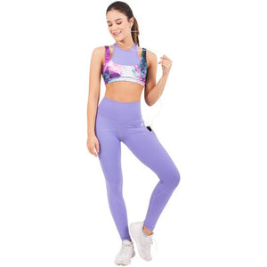 FLEXMEE Lavender Mid Rise Leggings with Pockets