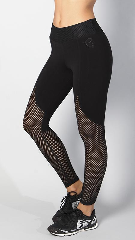 EQUILIBRIUM Authentic Black Mesh Legging