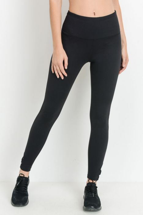 BA BLACK CLASSIC LEGGINGS - NO POCKETS + CALF DETAIL