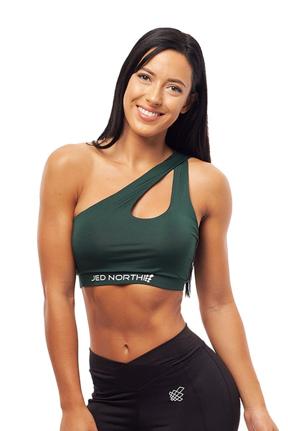 JED NORTH Flare One Shoulder Sports Bra
