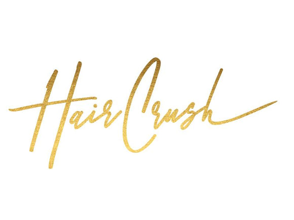 CUSTOM LOGO HAIR CRUSH (FRONT AND BACK)
