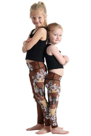 Yoga Democracy Girls Leggings Kids Beeloved Yoga Leggings (1723691696199)