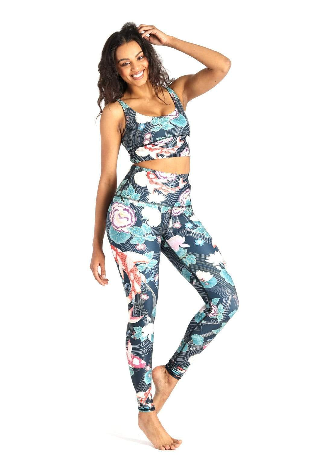 Yoga Democracy Leggings Clever Koi Printed Yoga Leggings