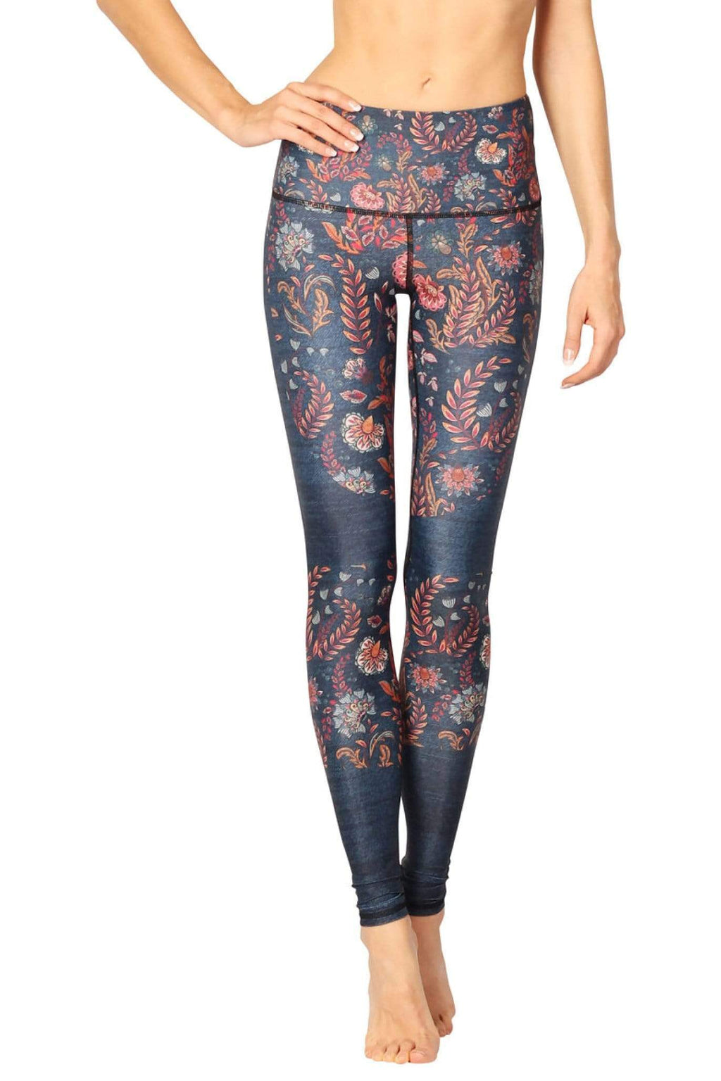 Yoga Democracy Leggings Festival Denim Printed Yoga Leggings