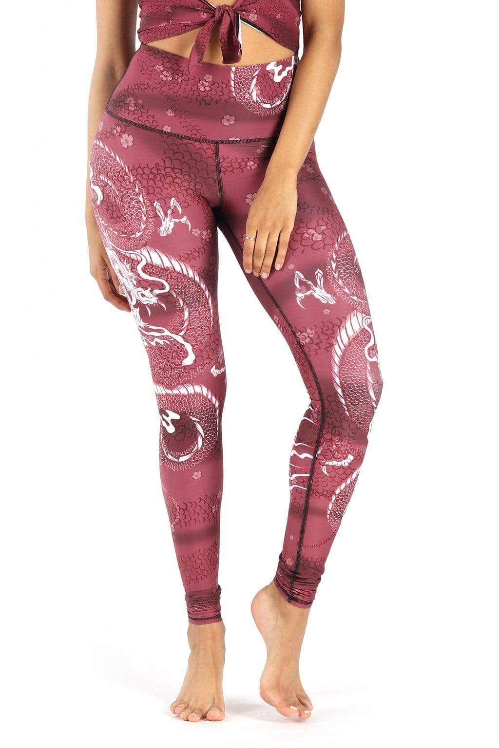 Yoga Democracy Leggings Dragon Goddess Printed Yoga Leggings