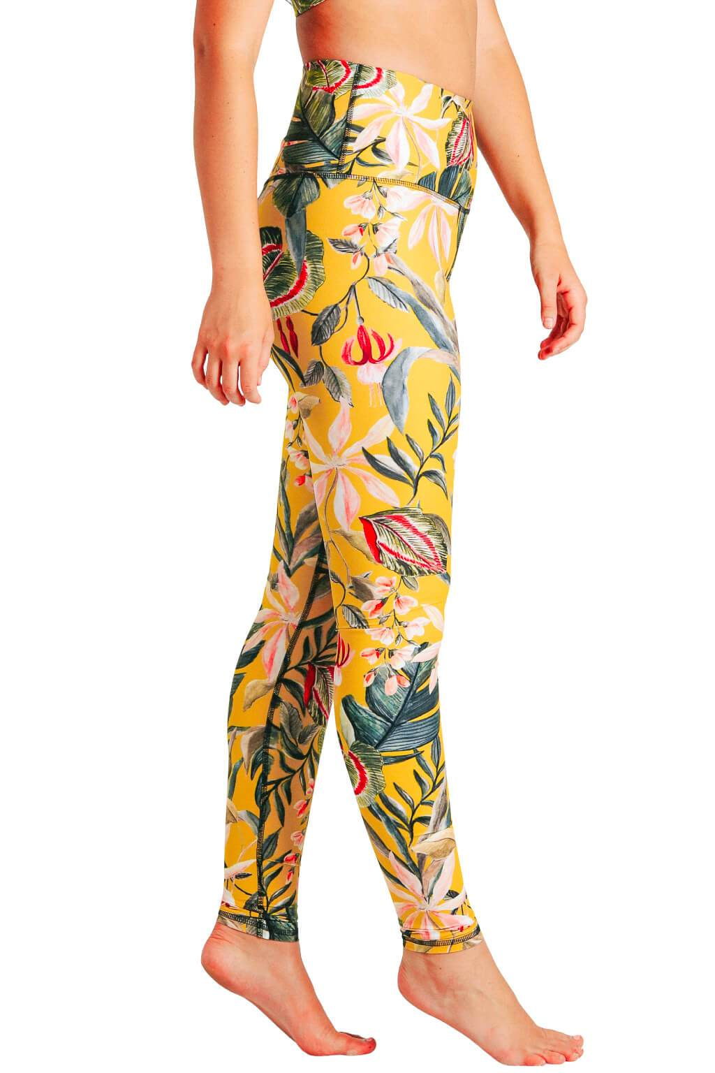 Curry Up Printed Yoga Leggings