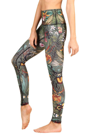 Yoga Democracy Leggings Green Thumb Printed Yoga Leggings