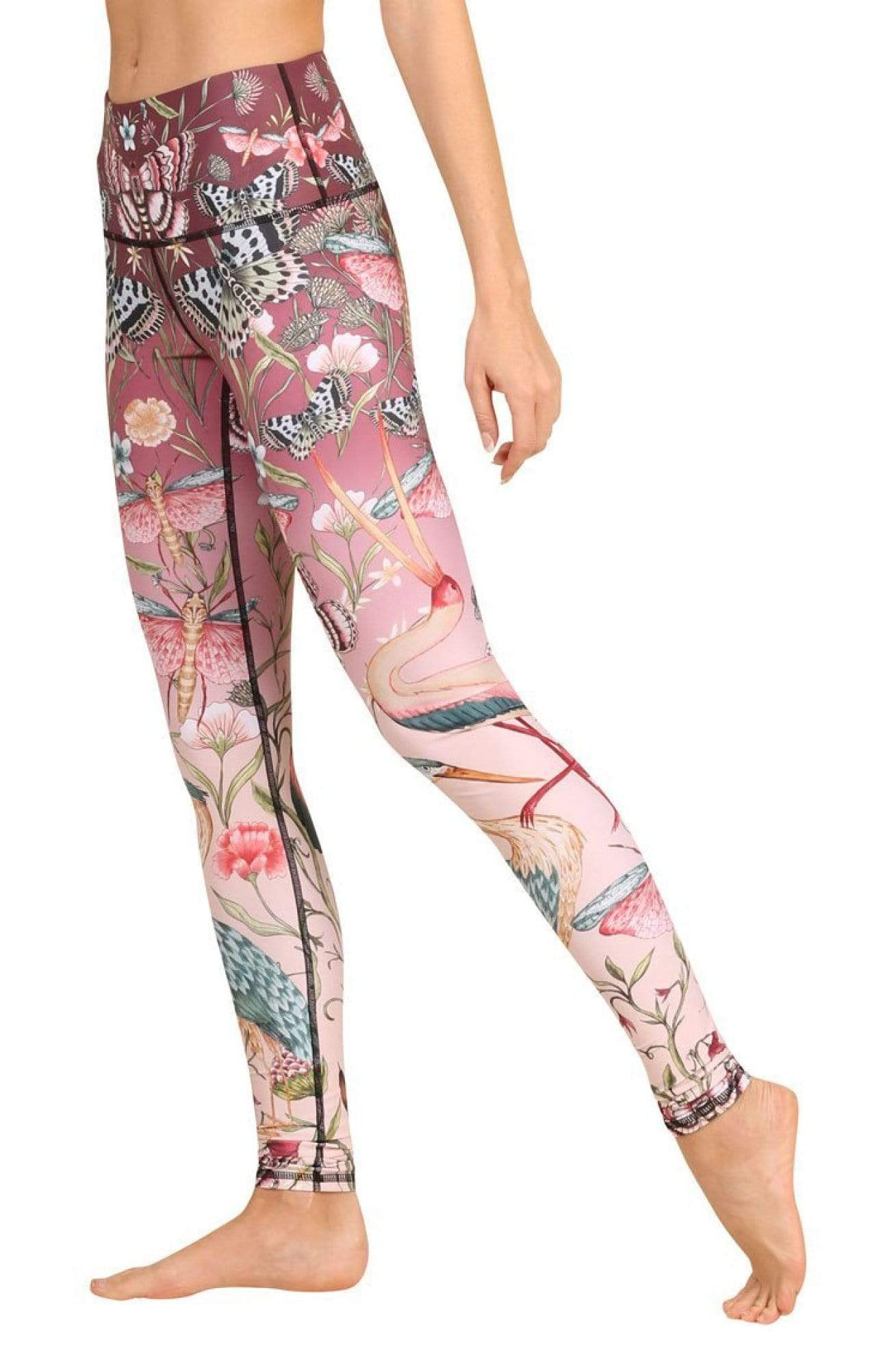 Yoga Democracy Leggings Pretty in Pink Printed Yoga Leggings