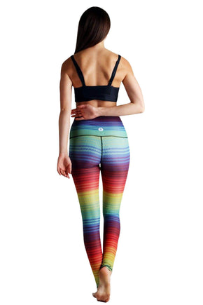 Yoga Democracy Leggings Rainbow Stripe Printed Yoga Leggings
