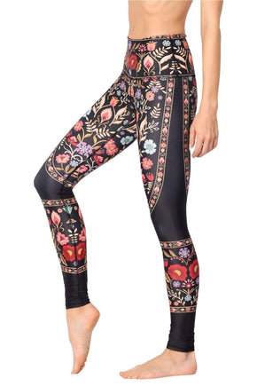 Yoga Democracy Leggings Rustica Printed Yoga Leggings