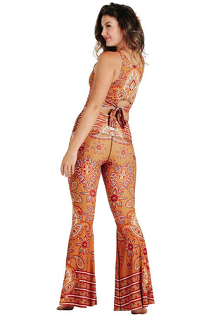 Rad Paisley Printed Bell Bottoms