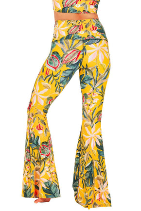 Curry Up Printed Bell Bottoms