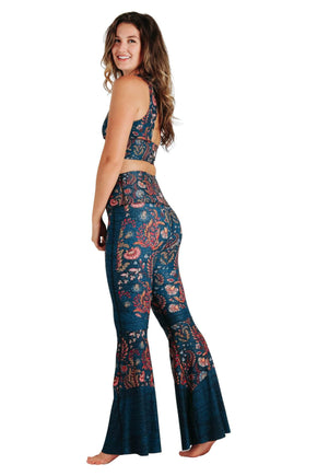 Festival Denim Printed Bell Bottoms