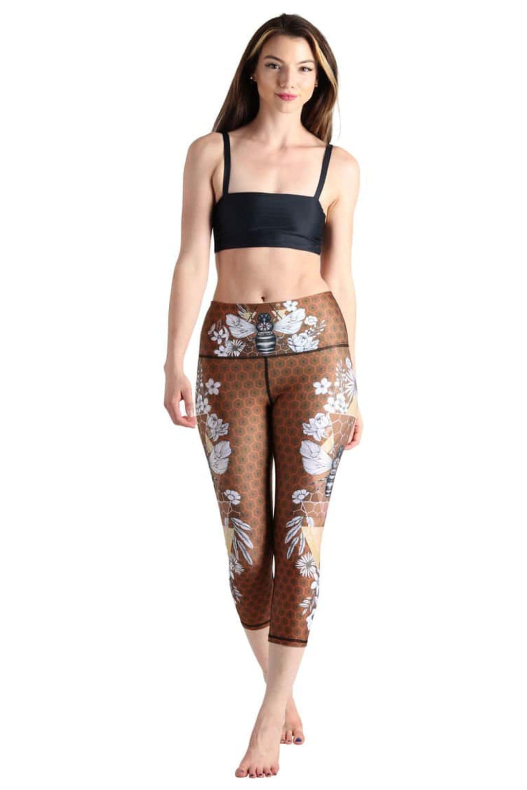 Beeloved Printed Yoga Crops