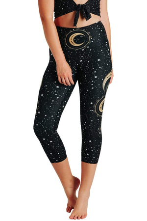 Yoga Democracy Leggings Fortune Teller Printed Yoga Crops