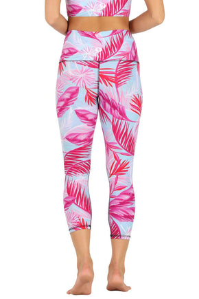 Hot Tropic Printed Yoga Crops