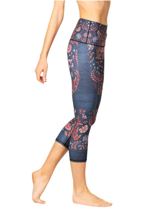 Yoga Democracy Leggings Festival Denim Printed Yoga Crops