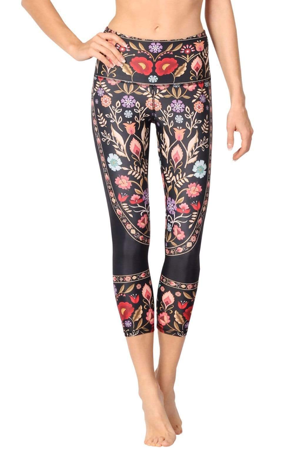 Yoga Democracy Leggings Rustica Printed Yoga Crops