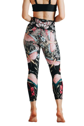 Yoga Democracy Leggings Pretty In Black Printed Yoga Crops