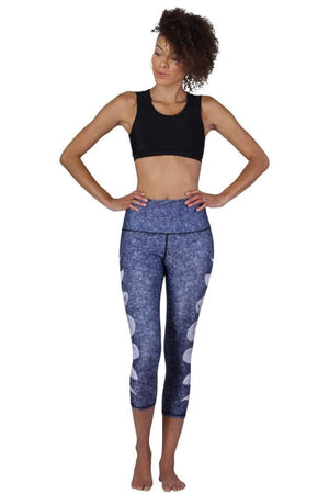 Yoga Democracy Leggings Just a Phase Printed Yoga Crops