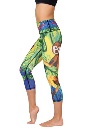 Yoga Democracy Leggings Frida Printed Yoga Crops