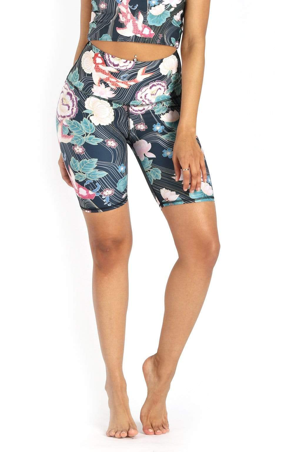 Yoga Democracy Shorts Biker Joey Short in Clever Koi