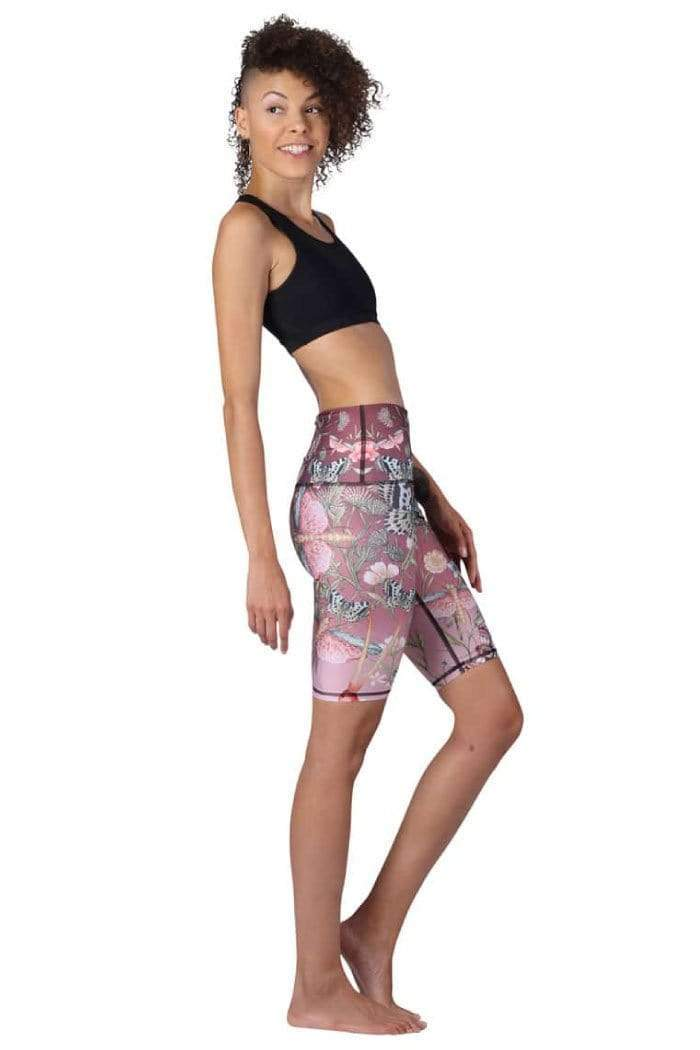 Yoga Democracy Shorts Biker Joey Short in Pretty in Pink