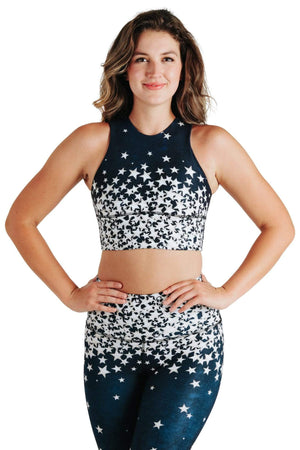 Yoga Democracy Sports Bra Free Range Sports Bra in Star Struck