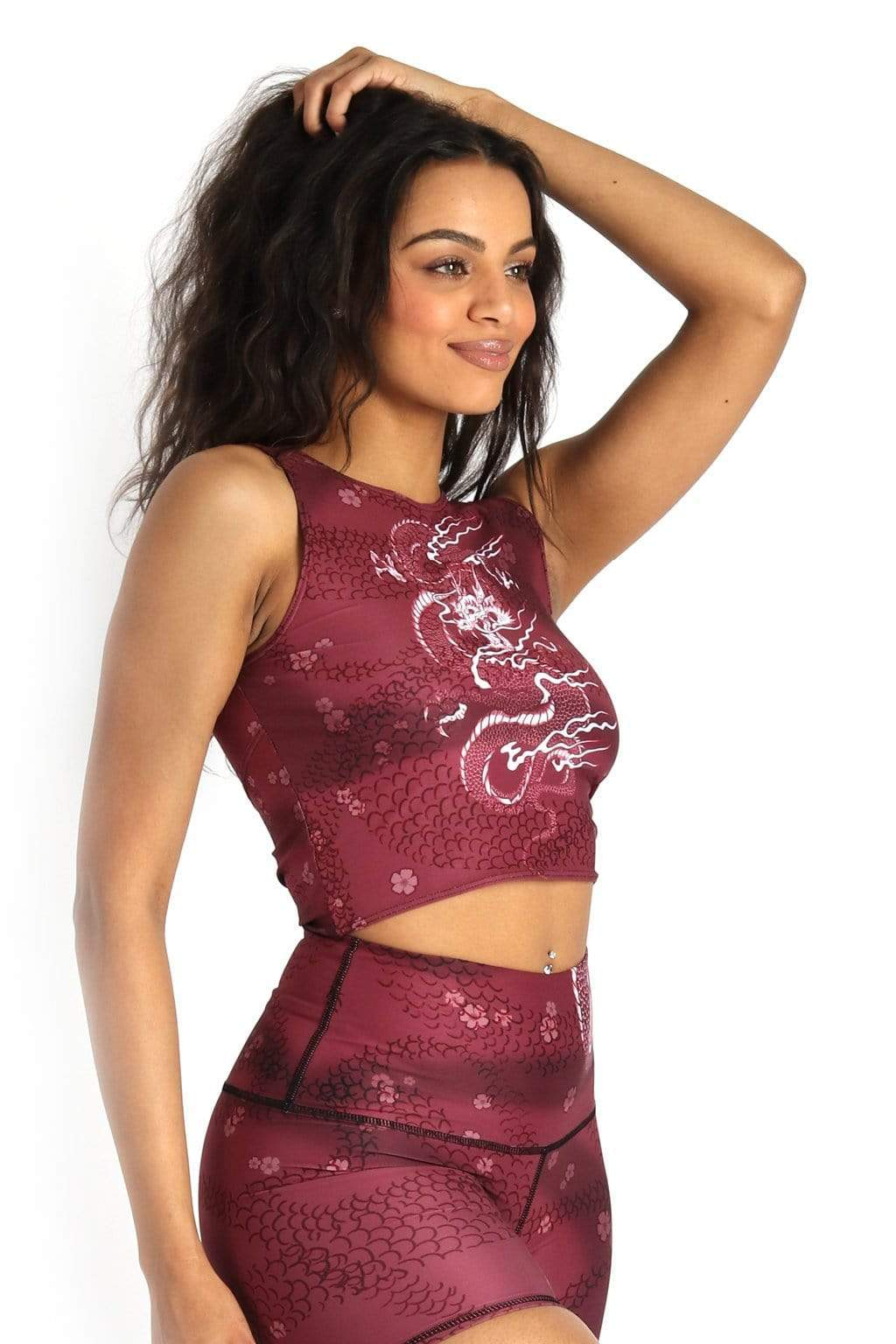 Yoga Democracy Tops Reversible Knot Top in Dragon Goddess