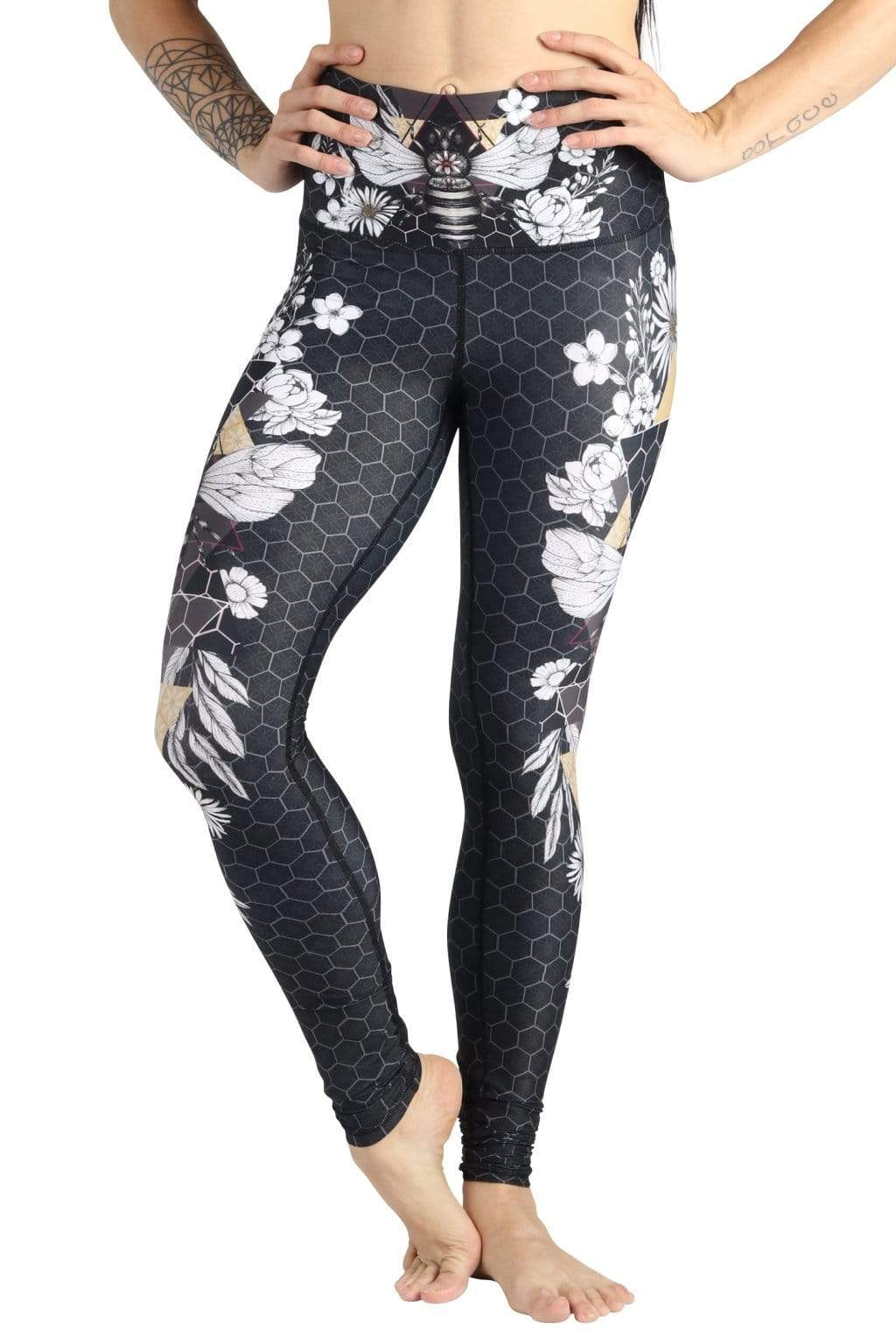 Yoga Democracy Leggings Beeloved Blackout Printed Yoga Legging