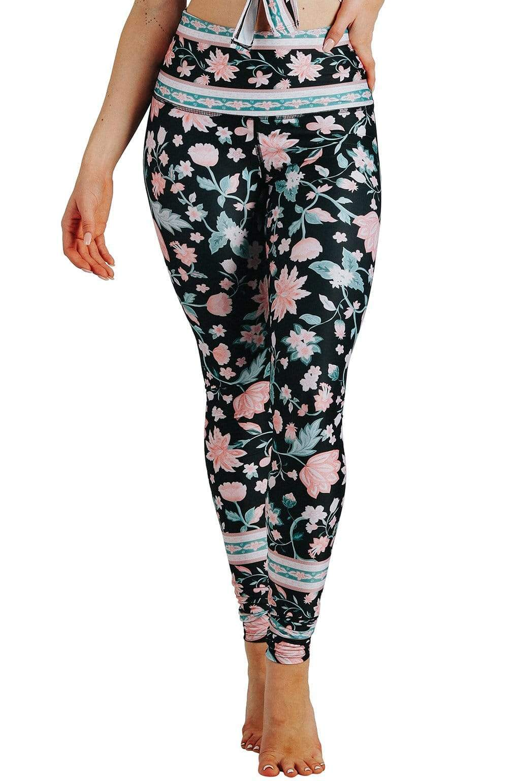 Yoga Democracy Leggings Cotton Candy Wreath Printed Yoga Leggings