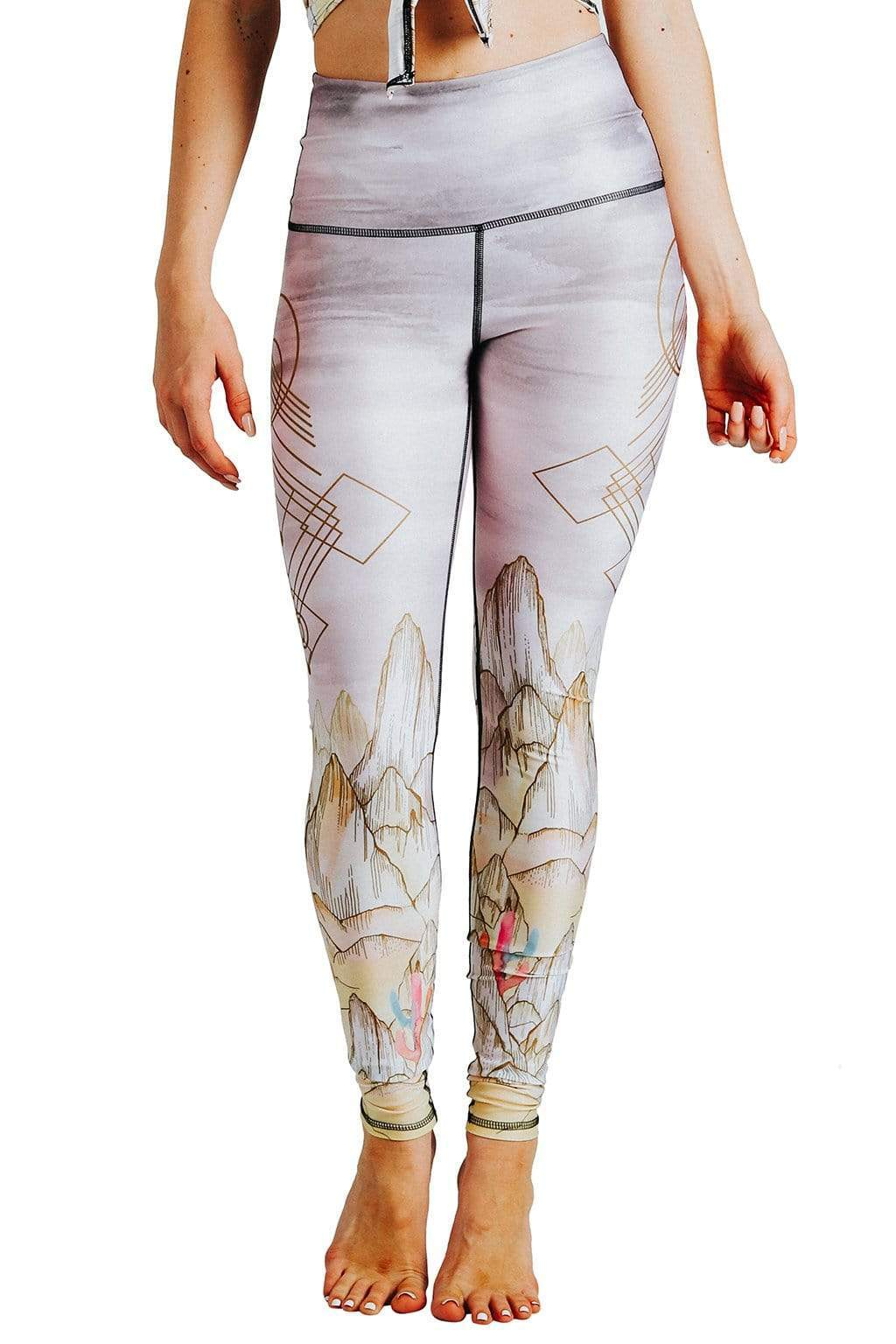 Yoga Democracy  Monsoon Medley Printed Yoga Leggings
