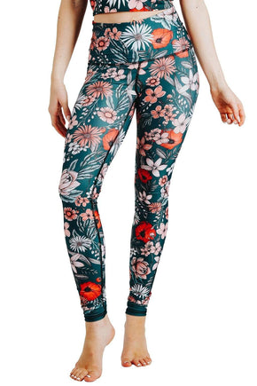 Yoga Democracy  Spring Fling Printed Yoga Leggings
