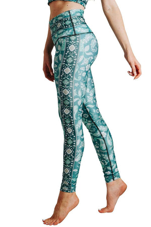 Yoga Democracy  Mint To Be Printed Yoga Leggings