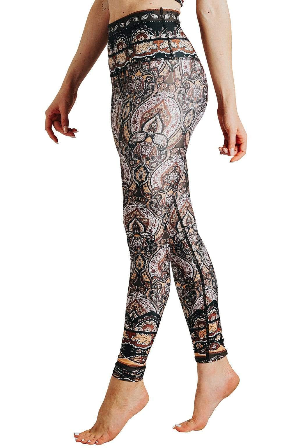 Yoga Democracy  Espresso Yourself Printed Yoga Leggings