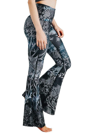 Yoga Democracy Leggings Root To Rise Printed Bell Bottoms