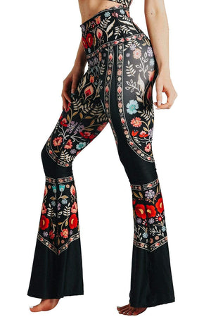 Yoga Democracy Leggings Rustica Printed Bell Bottoms