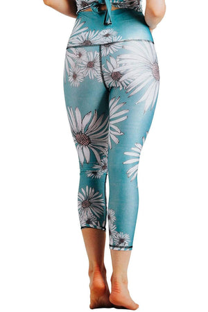 Yoga Democracy Leggings Flower Child Printed Yoga Crops