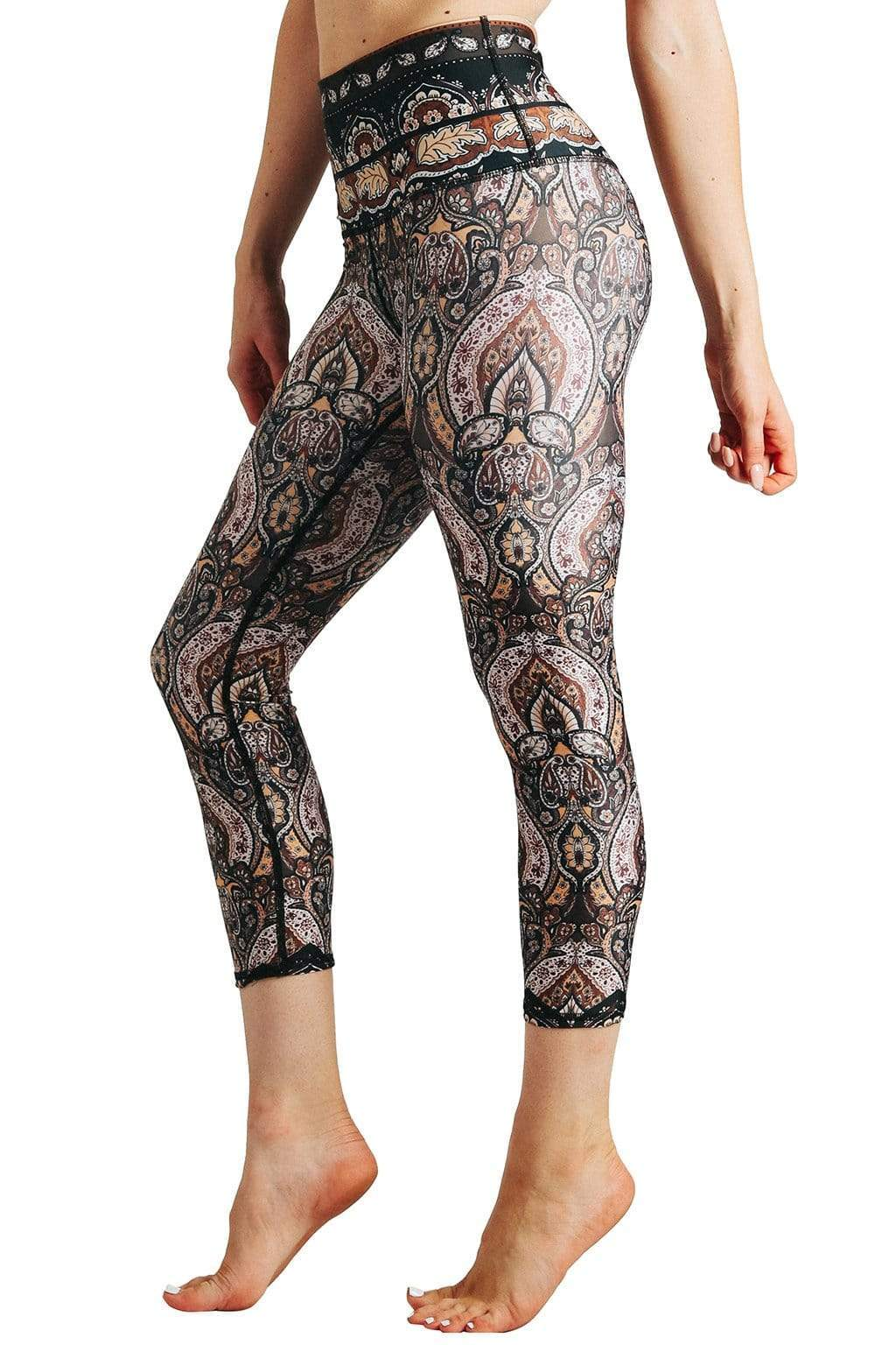 Yoga Democracy Leggings Espresso Yourself Printed Yoga Crops