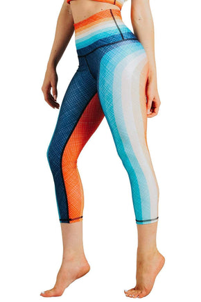 Yoga Democracy Leggings Retro Rainbow Printed Yoga Crops