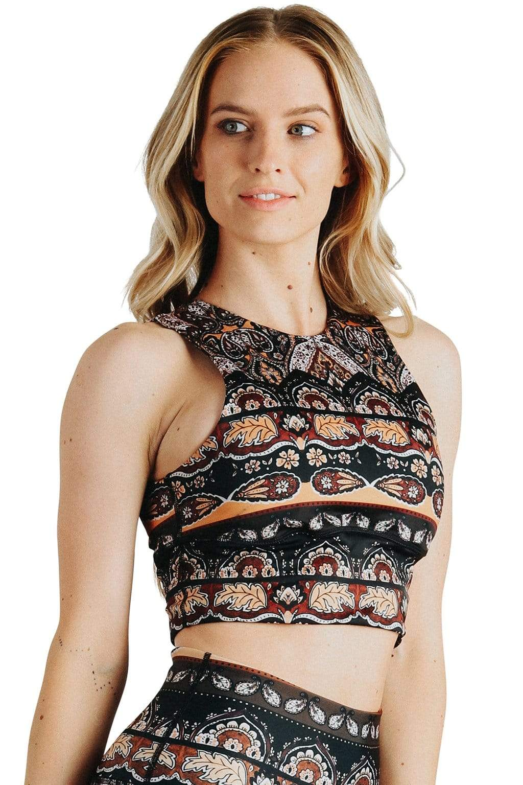 Yoga Democracy Sports Bra Free Range Sports Bra in Espresso Yourself