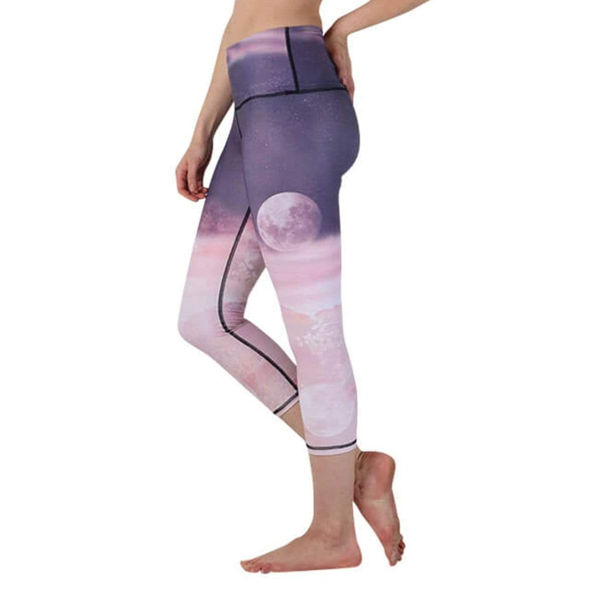 Yoga Democracy Leggings Lunar The Better Printed Yoga Crops - Final Sale
