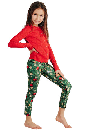 Yoga Democracy Girls Leggings Kids Christmas Story Yoga Leggings