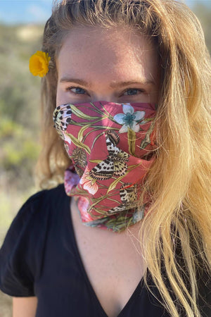 Yoga Democracy Accessories Eco-friendly unisex Bohemian Buff face Mask with UV protection + quick cool technology made from post consumer recycled plastics